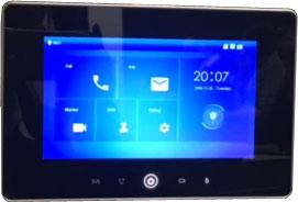 """IP domofono monitorius su WIFI, 7"""" 1024x600, Micro SD kortelės prievadas, PoE(802.3af) juodas"""