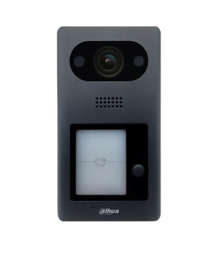 "IP domofono kamera, 1 abonento,  2MP 1/2.8"" colio 140°, integruotas kortelių skaitytuvas,IP65, IK10"