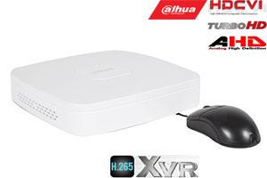 Pentabrid  įrašymo įreng. 4kam. HDCVI/AHD/TVI/CVBS/IP 2MP 15fps (non-realtime), H.265+,1HDD