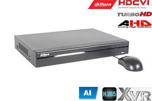 Pentabrid  įrašymo įreng. 4kam. HDCVI/AHD/TVI/CVBS/IP 2MP 15fps (non-realtime), H.265+,1HDD, SMD