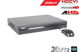 Pentabrid  įrašymo įreng. 16kam. HDCVI/AHD/TVI/CVBS/IP 2MP 15fps (non-realtime), H.265+,2HDD