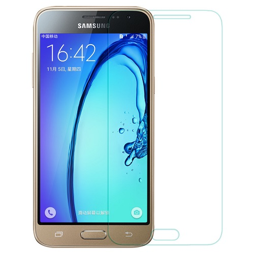 Apsauginis grūdintas stiklas Samsung Galaxy J7 (2015, 2.5D, be pak., 5 vnt.)