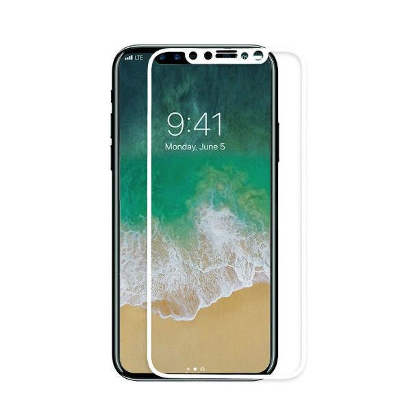 Apsauginis grūdintas stiklas APPLE iPhone X (3D, baltas)