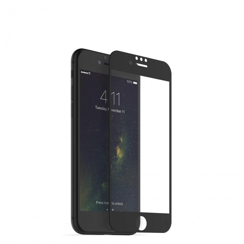 <b><mark><i>NAUJIENA!</i></b></mark> Apsauginis grūdintas stiklas Apple iPhone 6+/7+/8+ (3D, juodas)