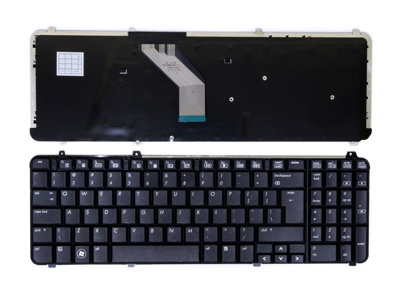Klaviatūra HP Pavilion: DV6-1000, DV6-1100, DV6-1200, DV6-1300, DV6-2000, DV6-2100, UK