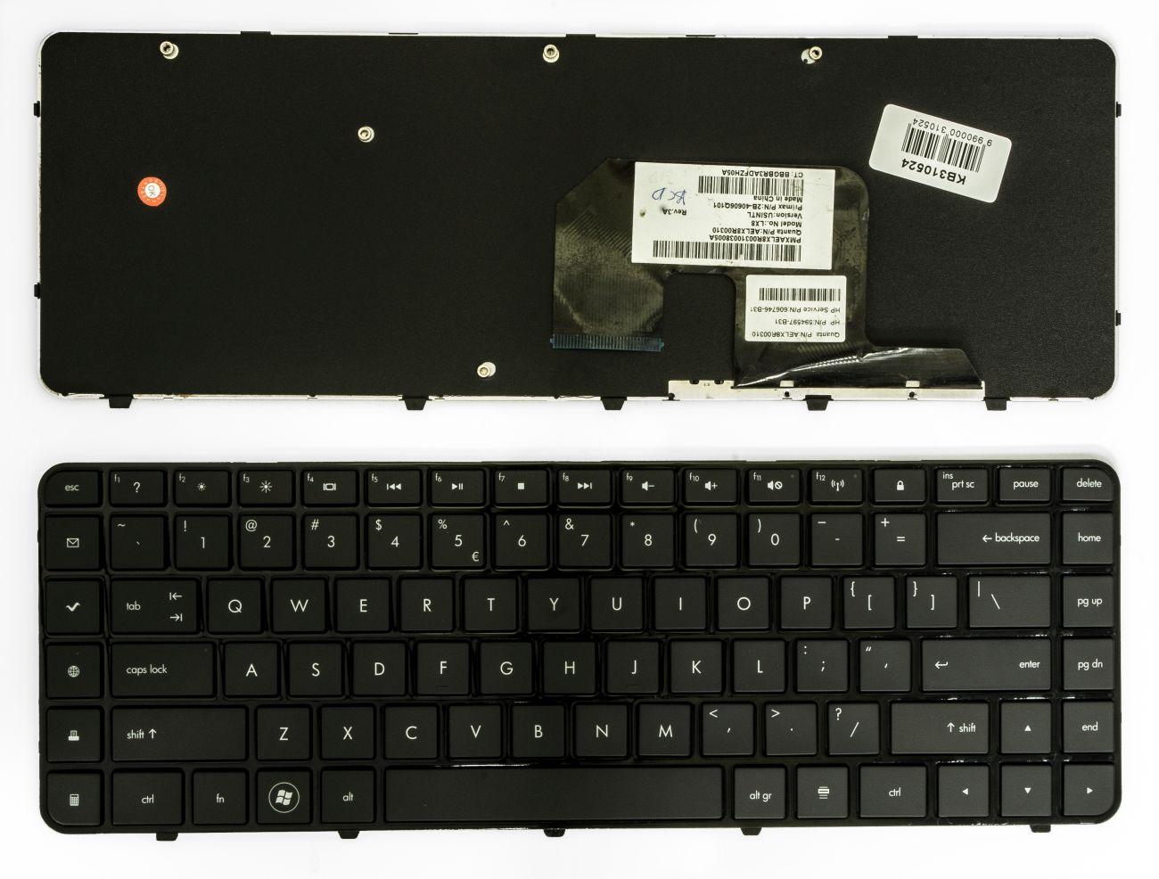 Klaviatūra HP Pavilion DV6-3000, DV6-3100
