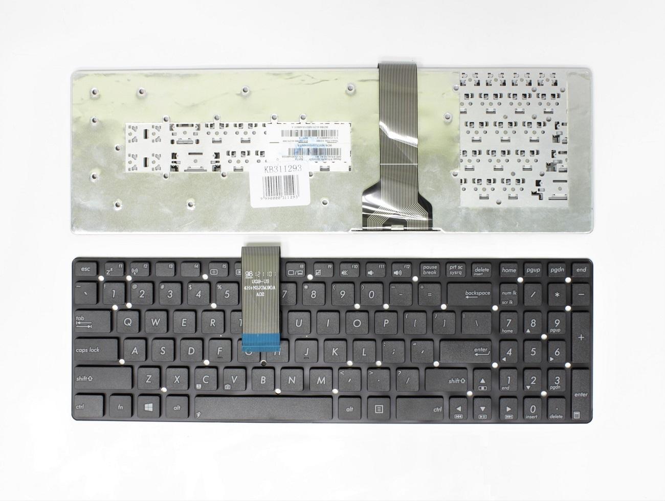 Klaviatūra ASUS: K55, K55A, K55V, K55M, K55X, A55, A55V, A55A, A55N