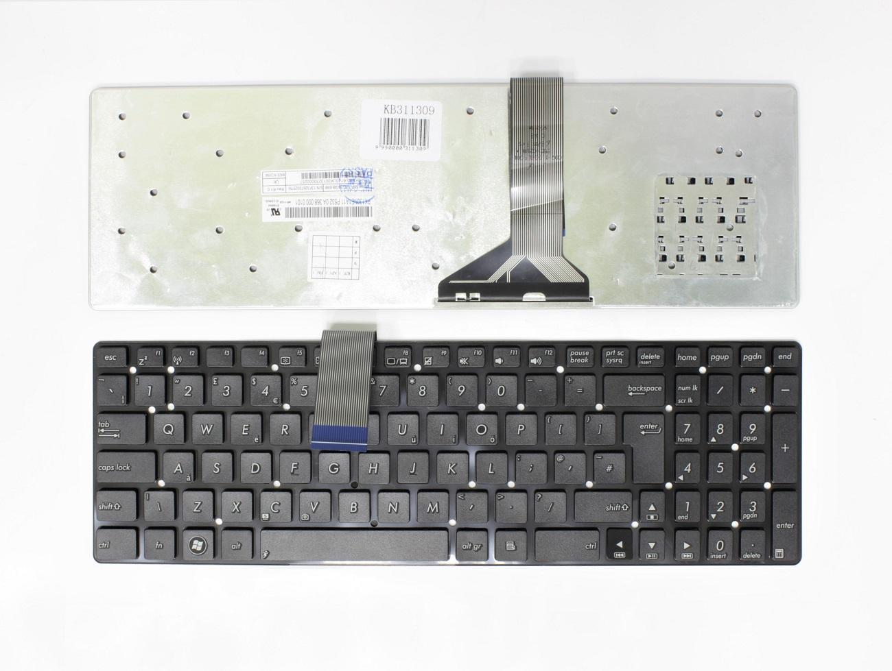 Klaviatūra ASUS: K55, K55A, K55V, K55M, K55X, UK