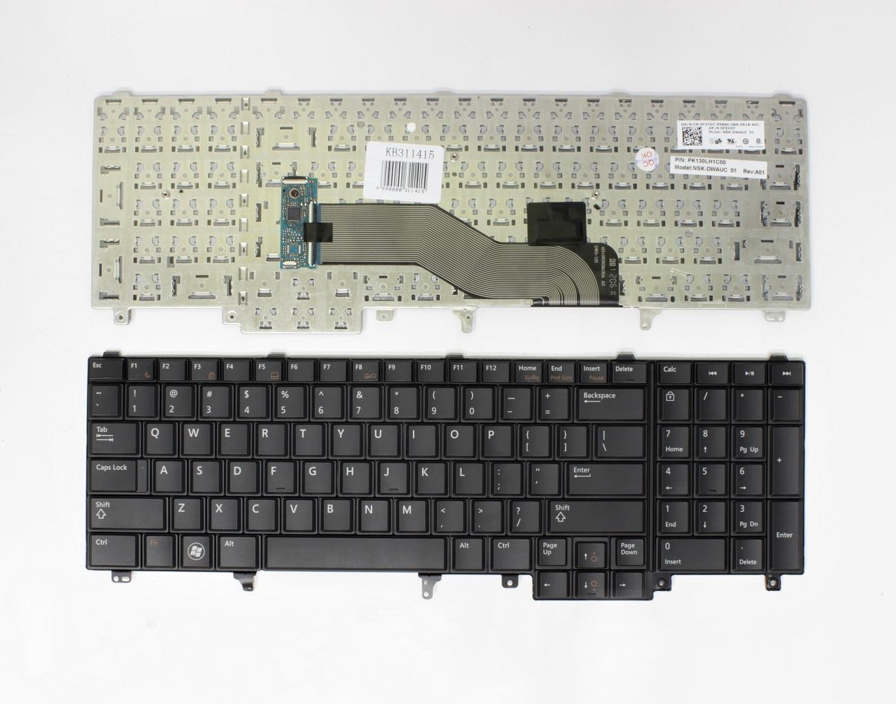 Klaviatūra DELL Latitude: E5520, E5520m, E5530, E6520
