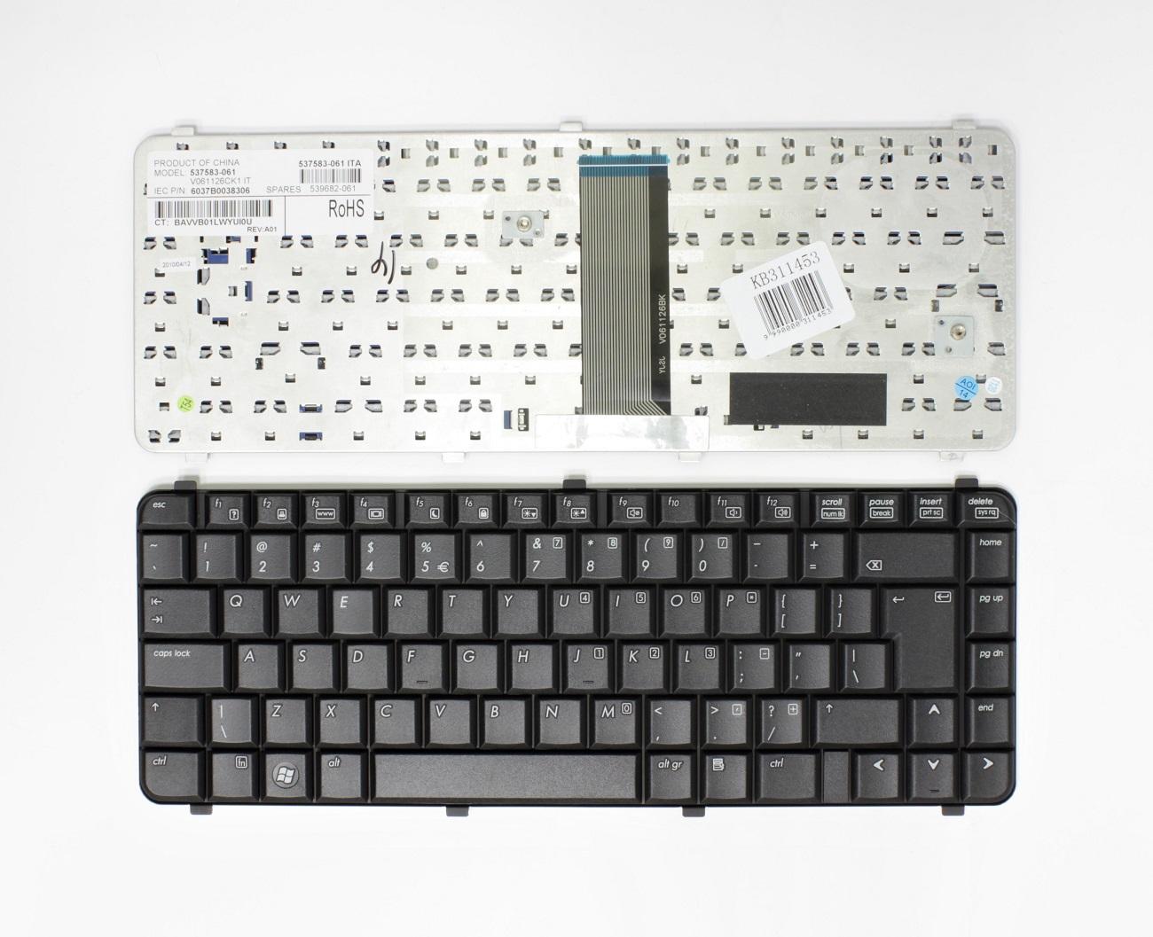 Klaviatūra HP Compaq: 6530S, 6535S, 6531S, 6730S, 6735S, UK