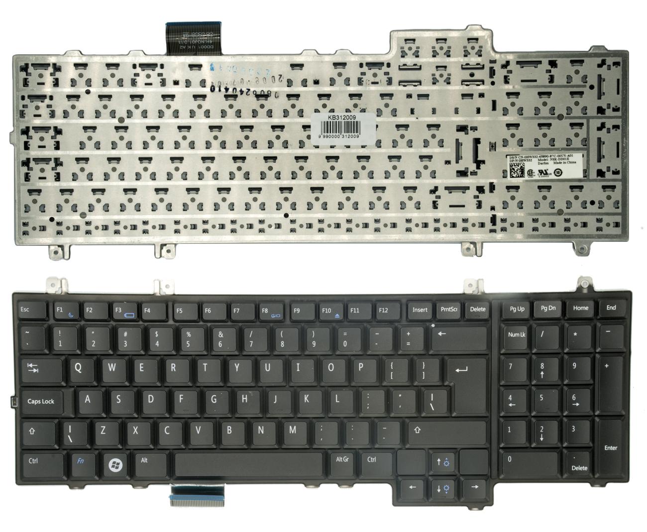 Klaviatūra DELL: Studio 1735, 1736, 1737. UK