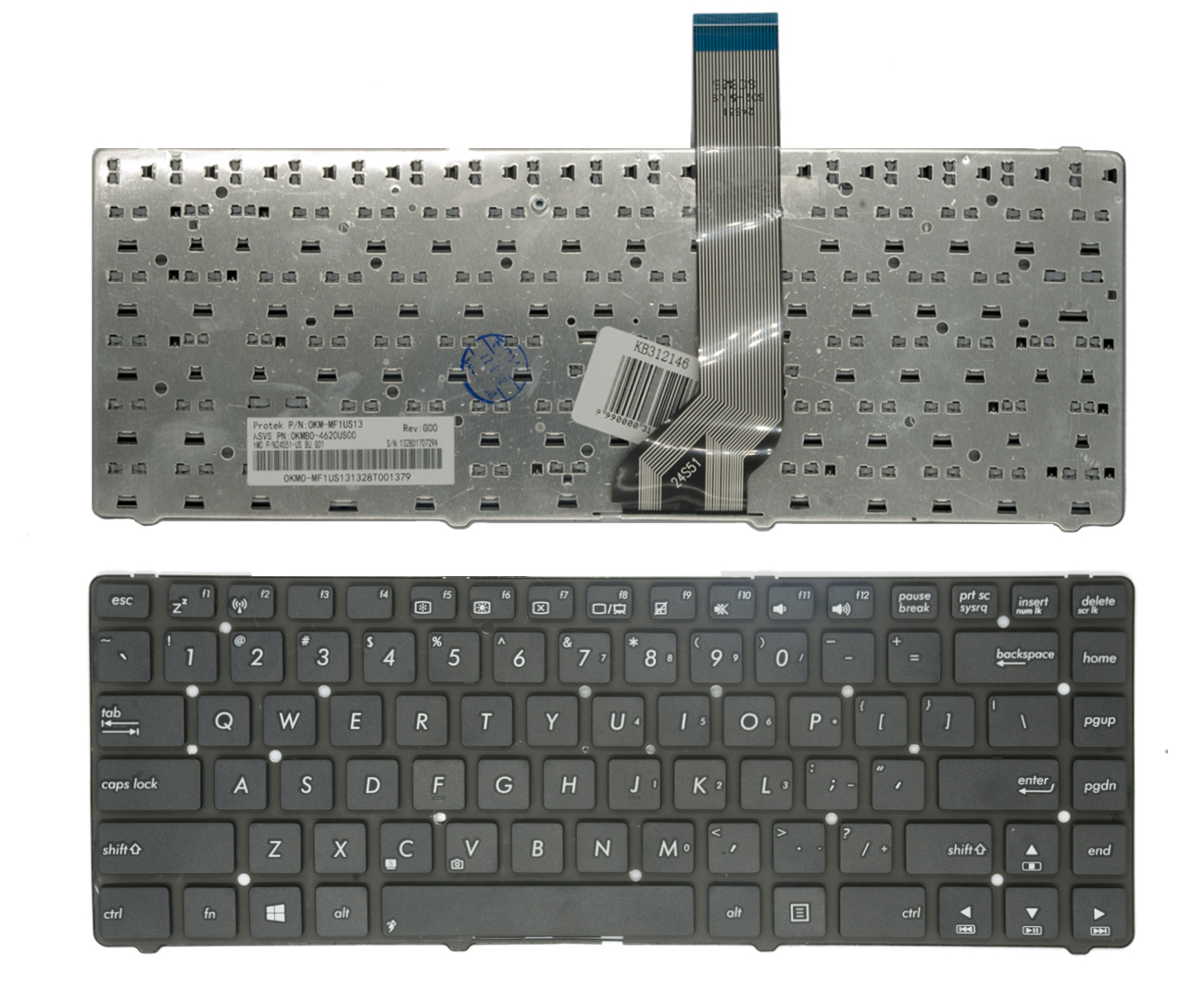 Klaviatūra ASUS: K45, A85V, R400, K45VD, A45VM, R400V, N45