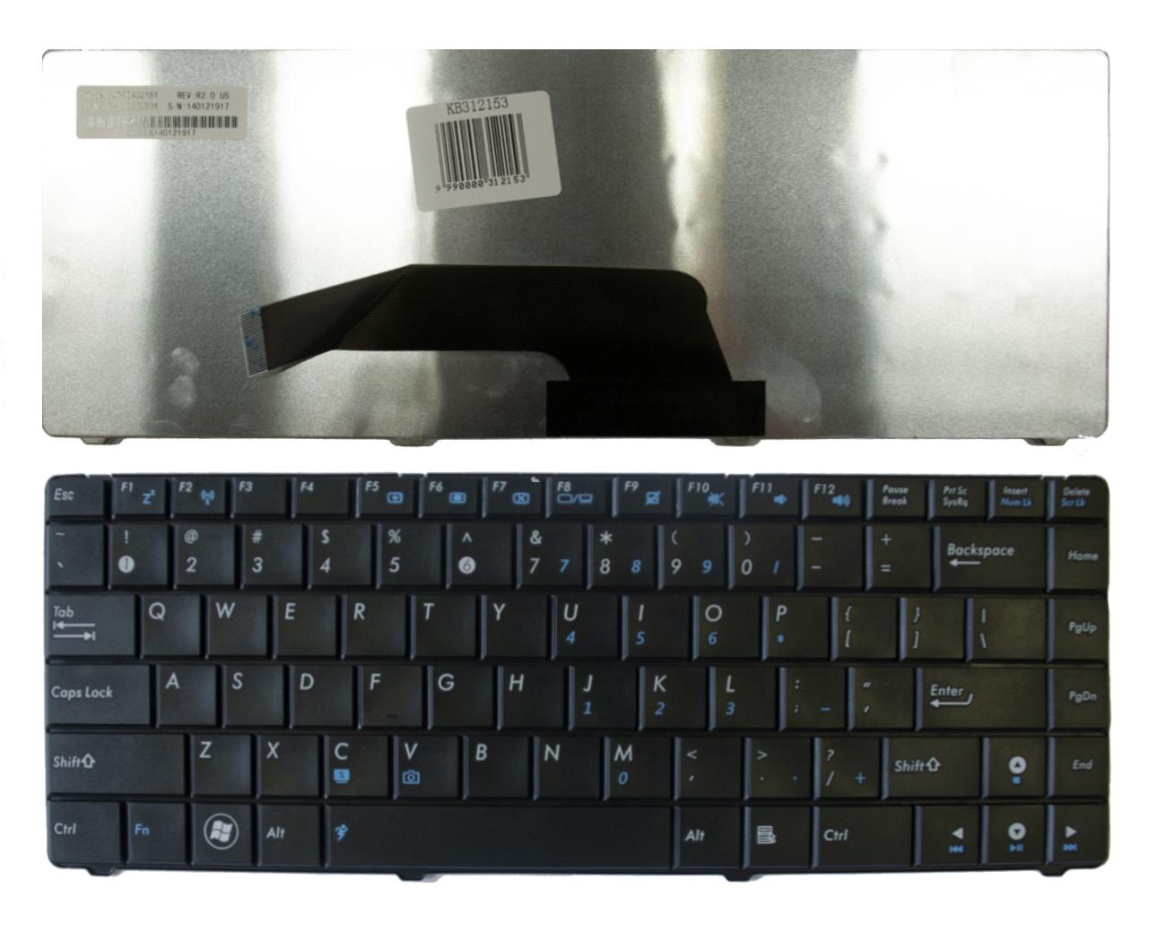 Klaviatūra ASUS: K40, K40AB, K40IJ, K40IN, K40C, K40IP