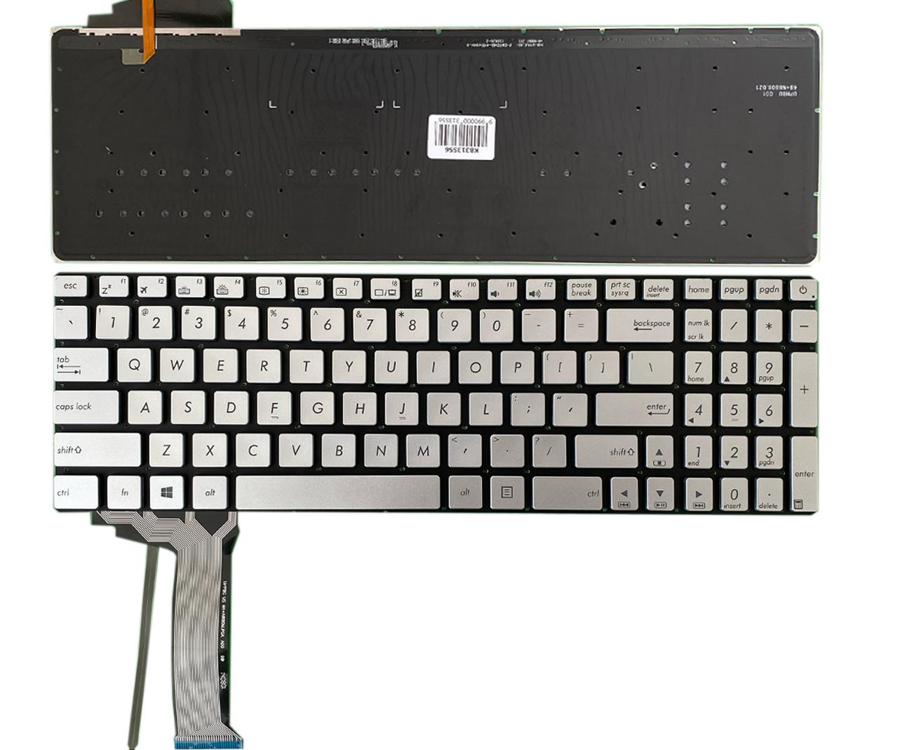 Klaviatūra ASUS: N551, N551J, N552, N552V