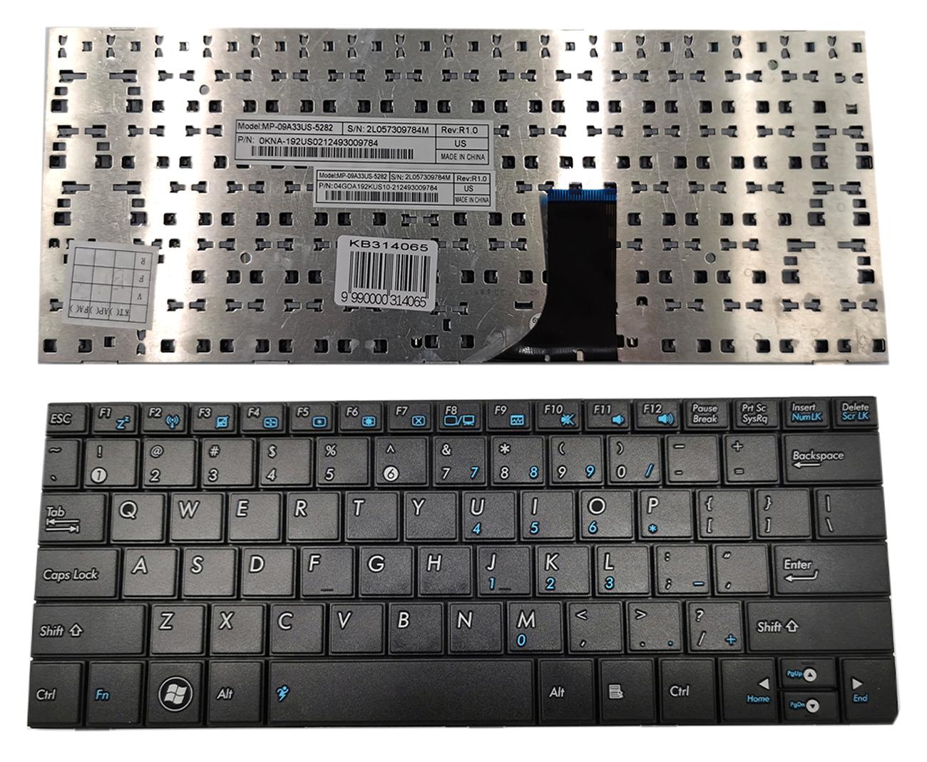 Klaviatūra ASUS: EEE PC 1001, 1001PXD, 1005, 1005HA