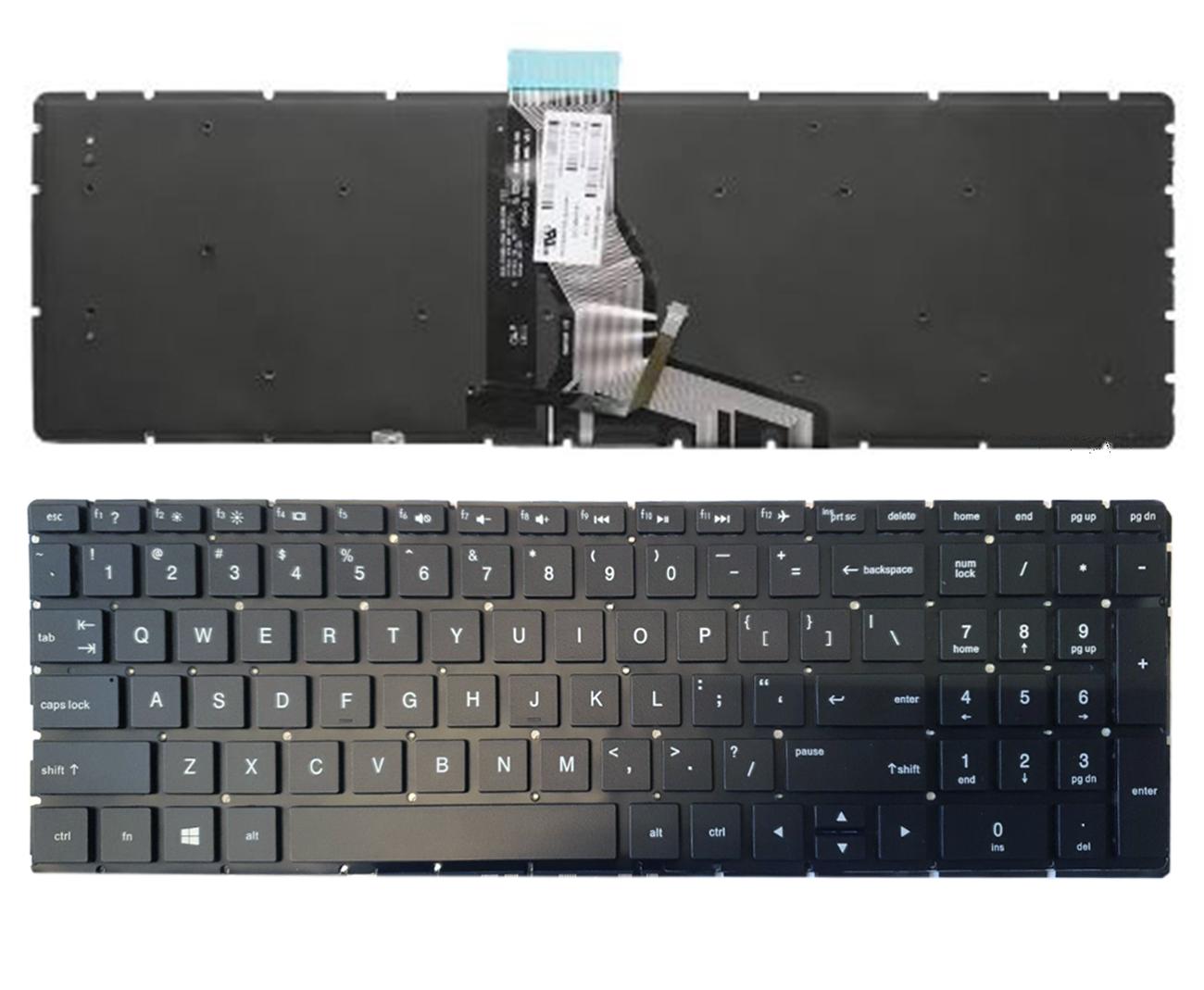Klaviatūra HP 250 G6, 255 G6, 256 G6, 258 G6, 15-BS su apšvietimu (US)