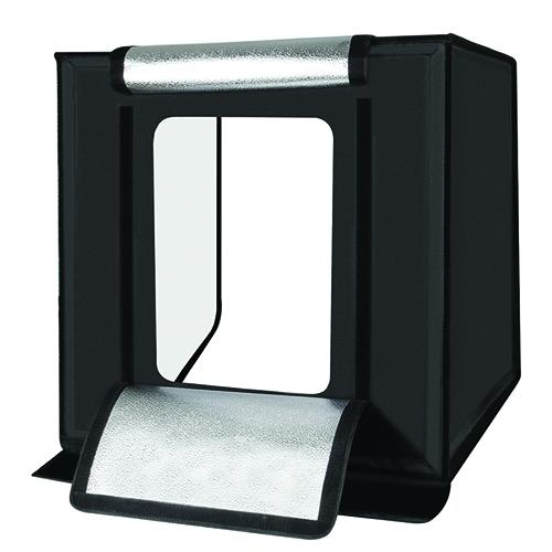 Fotografavimo dėžė su LED apšvietimu, 60x60x60cm