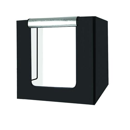 Fotografavimo dėžė su LED apšvietimu, 80x80x80cm