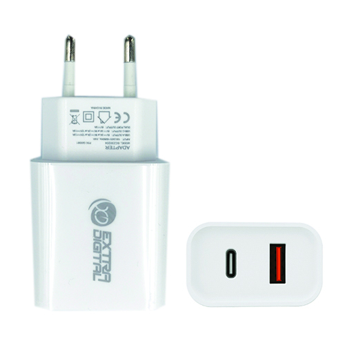 Kroviklis, USB 3.0+ Type C: 220V, 18W, QC3.0+ PD