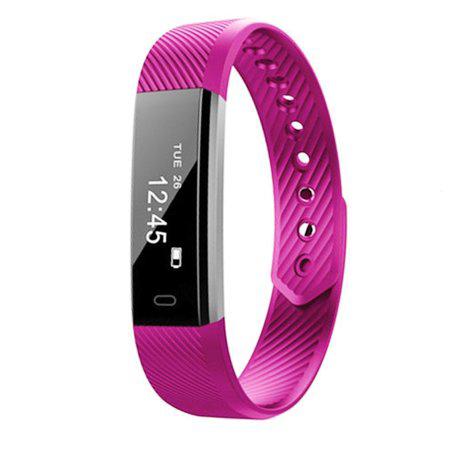 Išmanusis laikrodis su širdies ritmo matuokliu, purpurinis