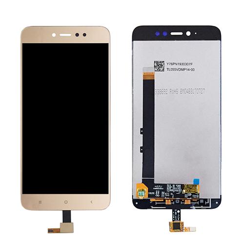 Ekranas LCD Xiaomi Redmi Note 5A Prime (auksinis) Restauruotas