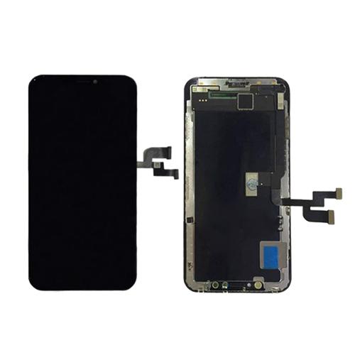 Ekranas iPhone X su lietimui jautriu stikliuku GX hard OLED (juodas)