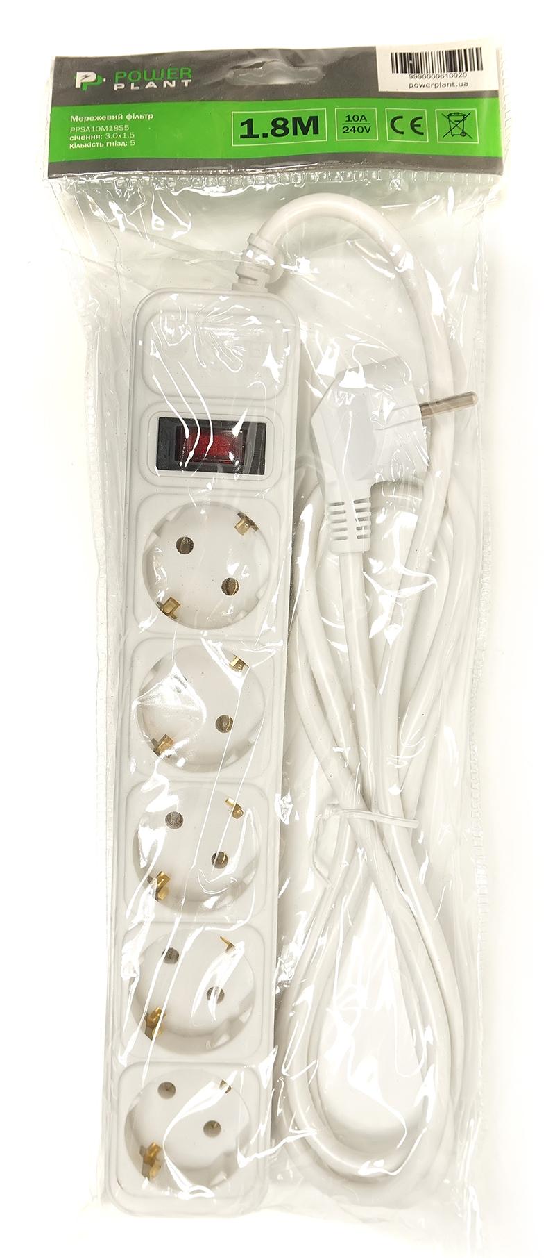 876178bca1f3 Сетевой кабель и вилка евростандарта. Выключатель  Есть Цвет  белый.  Упаковка  кулечек. Размеры  50x280x40 мм. Вес  0.4 кг. Производитель   PowerPlant